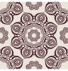 Lace hand drawn seamless pattern vector