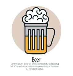 line beer design vector image vector image