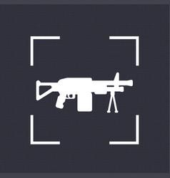 Machine gun icon automatic firearm vector