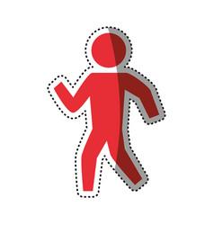 man silhouette walking vector image vector image