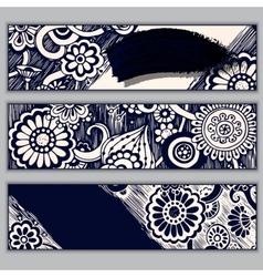 Paisley batik background ethnic doodle cards vector