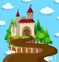 Road to the castle vector image vector image