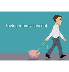 Saving money concept vector image vector image