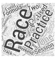 The basics of formula one racing word cloud vector