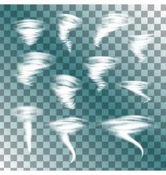 Tornado set vector image
