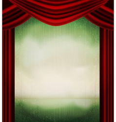 Vintage theater poster vector