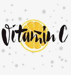 Vitamin c rough traced custom artistic handwritte vector