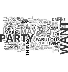 What makes an event fabulous text word cloud vector
