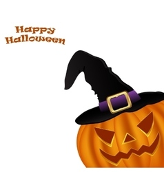 Wicked pumpkin for halloween vector