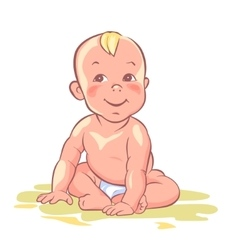 Baby cute child happy kid vector