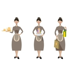 Sales woman from pastry shop vector