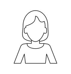 Woman intelligent success thin line vector