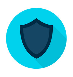 shield flat circle icon vector image