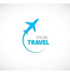 Travel symbol vector image