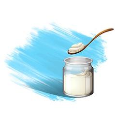 Yoghurt or cream with brush stroke vector image