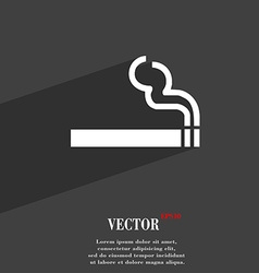 Cigarette smoke icon symbol flat modern web design vector