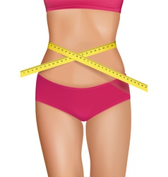 Fit young woman body vector