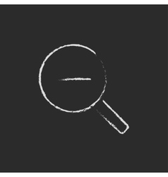 Zoom out icon drawn in chalk vector