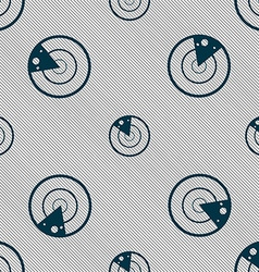 Radar icon sign seamless pattern with geometric vector