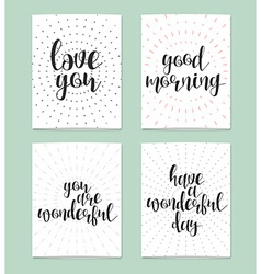 Realistic postcard love you good morning you are vector