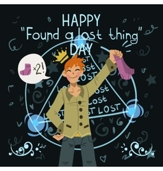 Happy found a lost thing day vector