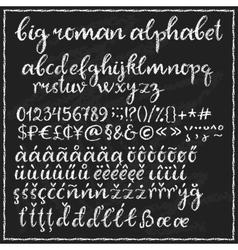 Big chalk roman alphabet vector