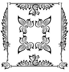 decor floral frame vector image vector image