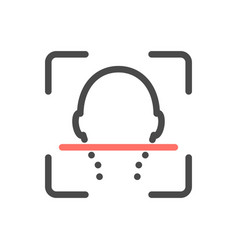 Facial identify isolated icon scanning vector