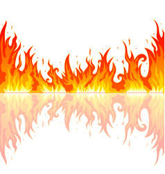 flame of the fire vector image vector image