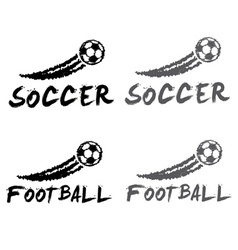 football and soccer vector image