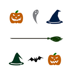 Halloween set on white background vector