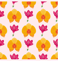 Hand drawn flower seamless pattern wallpaper with vector