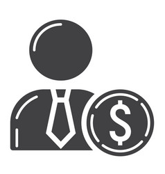 investor glyph icon business and finance vector image