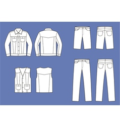 Jeans clothes vector image