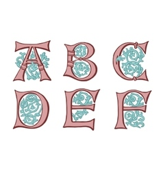 letters in the old vintage style Part 1 vector image