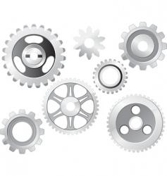 Machine gear wheel vector