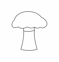 Mushroom icon outline style vector image