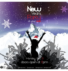 New years party vector image