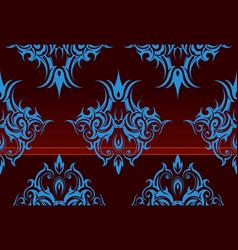 Repeating swirl wallpaper vector image