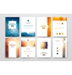 Set of brochures in poligonal style on Presidents vector image