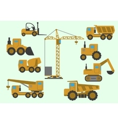 Set of construction equipment vector