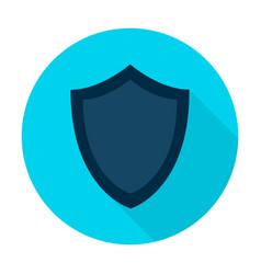 shield flat circle icon vector image vector image