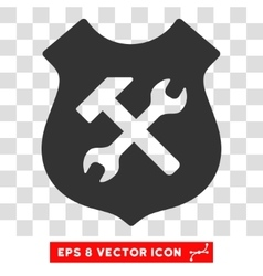 Shield Options Eps Icon vector image