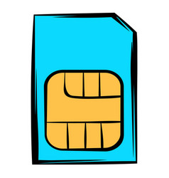 sim card icon icon cartoon vector image