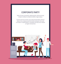 smiling people in office wine vector image vector image