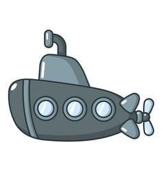 submarine old icon cartoon style vector image