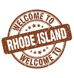 Welcome to rhode island vector