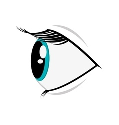 Cartoon eye profile icon vector