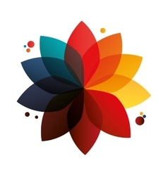 Abstract geometric flower icon vector
