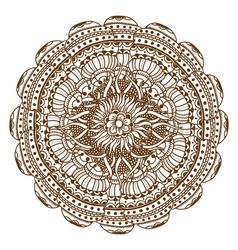 Mehndi Henna Tattoo Mandala vector image